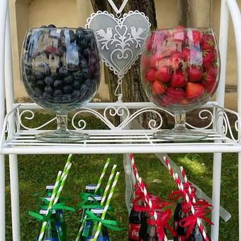 Stilingas šventinis šampano- vaišių staliukas po ceremonijos / Ramunė / Darbų pavyzdys ID 475573