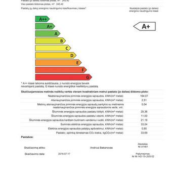 Projektuojamo pastato energinio naudingumo ataiskaita