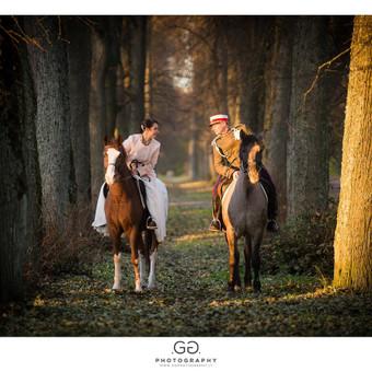 Vestuvių fotosesija Riešės žirgyne