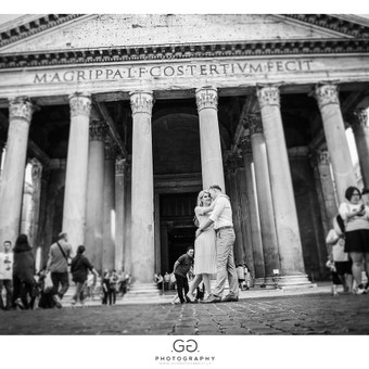 Prieš vestuvinė fotosesija Romoje