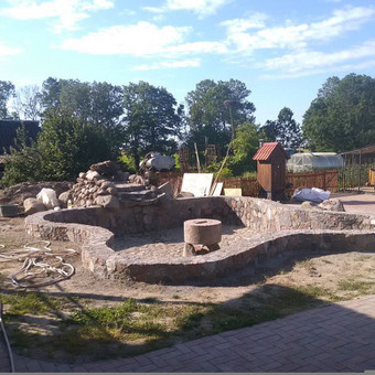 Akmenskaldys zidiniu meistras akmenu apdaila / Vidmantas Kazlauskis / Darbų pavyzdys ID 476501