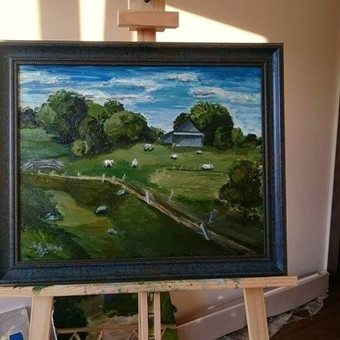 Gimtinės paveikslas. 40x50 cm. aliejus