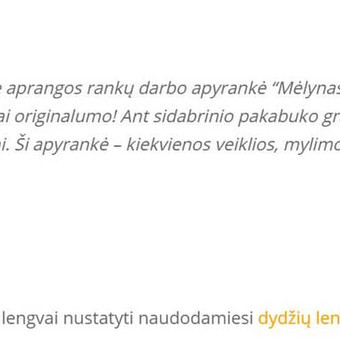 Tekstų kūrimas, redagavimas pagal Jūsų auditoriją (LT ir EN) / Austėja Šidlauskaitė / Darbų pavyzdys ID 479525