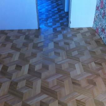 Darbai su medinėmis grindimis: klojimas, šlifavimas... / Rolandas / Darbų pavyzdys ID 480841