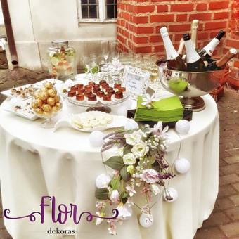 Šampano staliukas, gėlių fotosienos švenčių dekoracijų nuoma / Jurga / Darbų pavyzdys ID 480877