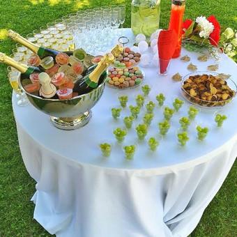 Šampano staliukas, gėlių fotosienos švenčių dekoracijų nuoma / Jurga / Darbų pavyzdys ID 480879