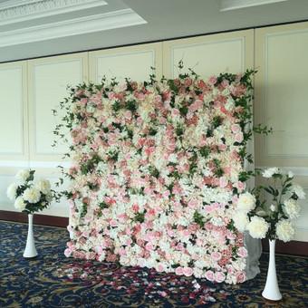 Šampano staliukas, gėlių fotosienos švenčių dekoracijų nuoma / Jurga / Darbų pavyzdys ID 480881