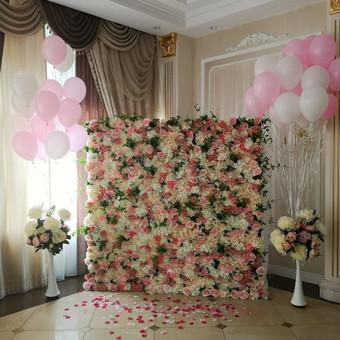 Šampano staliukas, gėlių fotosienos švenčių dekoracijų nuoma / Jurga / Darbų pavyzdys ID 480883