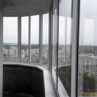 Balkonu, terasu, pavesiniu stiklinimas, plastikiniai langai / Valkoras / Darbų pavyzdys ID 481187