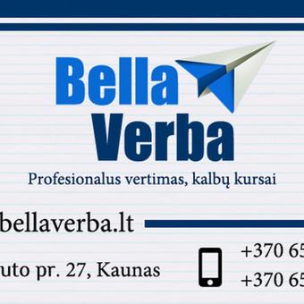 Vertimas iš/į 120 kalbų, individualūs kalbų kursai / UAB Bella Verba / Darbų pavyzdys ID 482261