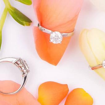 Kokybiški sužadėtuvių žiedai su Brangakmeniais