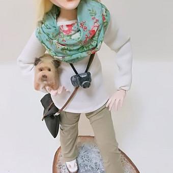 Portretinė lėlė, sukuriama per 1 - 2 mėnesius.