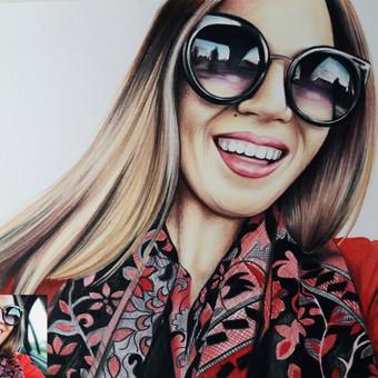 Portretų piešimas, paveikslų tapyba. / Sandra Stalmokaitė / Darbų pavyzdys ID 484227