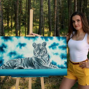 Portretų piešimas, paveikslų tapyba. / Sandra Stalmokaitė / Darbų pavyzdys ID 484251