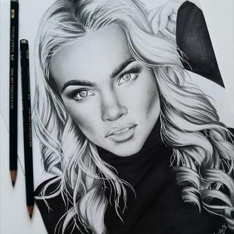 Portretų piešimas, paveikslų tapyba. / Sandra Stalmokaitė / Darbų pavyzdys ID 484253