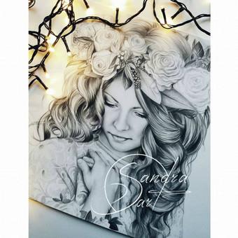 Portretų piešimas, paveikslų tapyba. / Sandra Stalmokaitė / Darbų pavyzdys ID 484261
