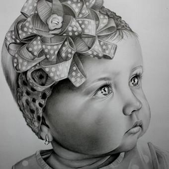 Portretų piešimas, paveikslų tapyba. / Sandra Stalmokaitė / Darbų pavyzdys ID 484267