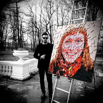 Dailininkas - dizaineris mozaikiniai paveikslai / Eugenijus Diglys / Darbų pavyzdys ID 485949