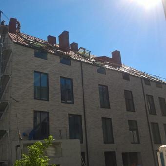 """""""clasik""""stogo dangos įrengimas"""