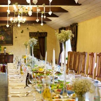 vestuvių stalo puošyba