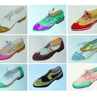 Batai perpiešti iš nuotraukų pagal užsakymą.