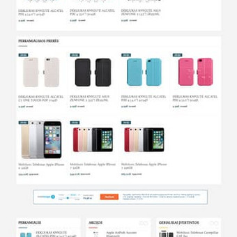 Internetinių svetainių | El-parduotuvių kūrimas Jūsų mieste / Jonas Urbonas / Darbų pavyzdys ID 486927