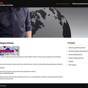 Internetinių Svetainių kūrimas - El.parduotuvės / Mantas M. / Darbų pavyzdys ID 487275