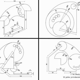 Brėžiniai Autocad programa / Jovita Valinčiūtė / Darbų pavyzdys ID 487421