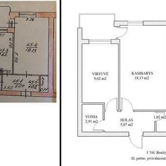 2D planas. Butas Kalvarijų g., Vilnius, Lietuva