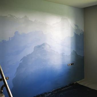 Miegamojo sienos tapyba