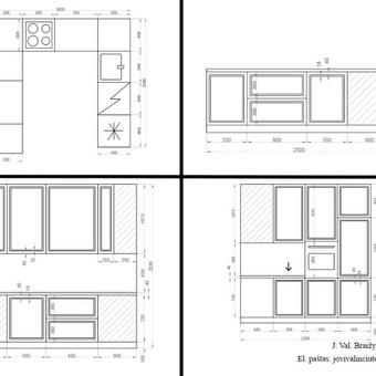 2D Virtuvės baldo išklotinė
