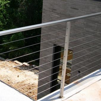 Turėklai iš nerūdijančio plieno ir  vidaus durys <Vaidmanta> / Vaidmanta MB / Darbų pavyzdys ID 490525