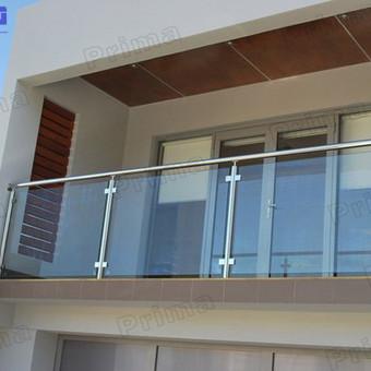 Turėklai iš nerūdijančio plieno ir vidaus durys / Vaidmanta MB / Darbų pavyzdys ID 490533