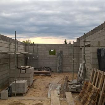 Rostverkas, mūras, betonavimas.