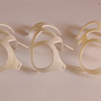 <p>Skirtingais 3D spausdintuvais atspausdintų modelių dalių skirtumai</p>