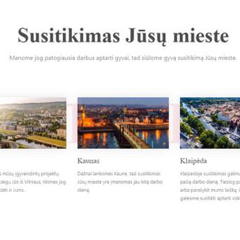 Internetinių svetainių | El-parduotuvių kūrimas Jūsų mieste / Jonas Urbonas / Darbų pavyzdys ID 493275