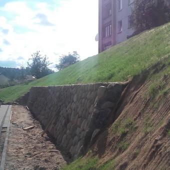 Akmens mūro darbai, Šlaitų ir pakrančių tvirtinimas,Gabion / Saulius / Darbų pavyzdys ID 493387