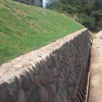 Akmens mūro darbai, Šlaitų ir pakrančių tvirtinimas.Atramine / Saulius / Darbų pavyzdys ID 493389