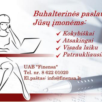 Buhalterinės paslaugos / Бухгалтерия / Accounting / UAB Finensa / Darbų pavyzdys ID 495387