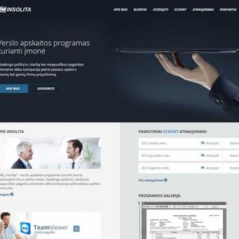 Įmonės reprezentacinė svetainė su nestandartiniais funkcionalumais: www.insolita.lt
