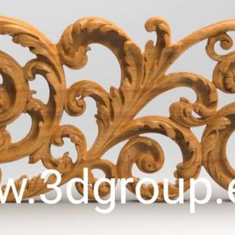 2D, 3D ir 4D frezavimas, 3D skenavimas / 3D Group EU, 3D Wood / Darbų pavyzdys ID 496087