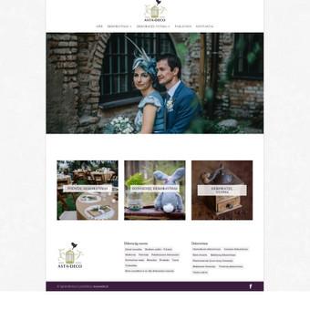 astadeco.com interneto svetainės kūrimo darbai
