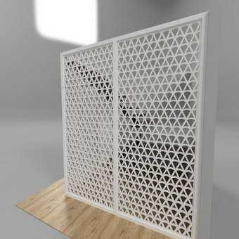 Frezavimas, ažūrinės sienelės, pertvaros / Kiaura siena / Darbų pavyzdys ID 497123