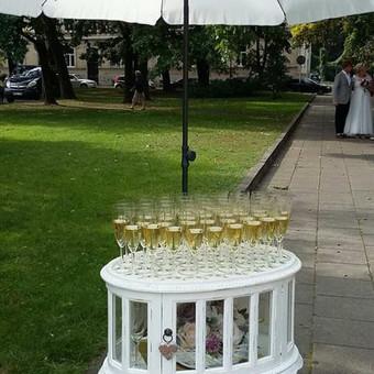 Stilingas šventinis šampano- vaišių staliukas po ceremonijos / Ramunė / Darbų pavyzdys ID 497187