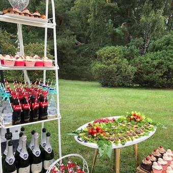 Stilingas šventinis šampano- vaišių staliukas po ceremonijos / Ramunė / Darbų pavyzdys ID 497201