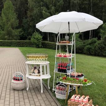 Stilingas šventinis šampano- vaišių staliukas po ceremonijos / Ramunė / Darbų pavyzdys ID 497205