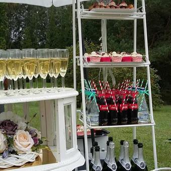 Stilingas šventinis šampano- vaišių staliukas po ceremonijos / Ramunė / Darbų pavyzdys ID 497235