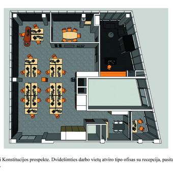 Interjero dizainas. Ofiso patalpų projektavimas. / Bright mark / Darbų pavyzdys ID 497785