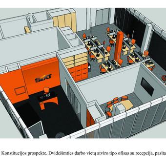 Interjero dizainas. Ofiso patalpų projektavimas. / Bright mark / Darbų pavyzdys ID 497787