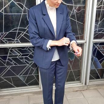 Klasikinis kostiumas pasiūtas ir sukurtas pagal individualius matmenis